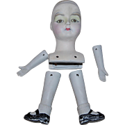 Bisque Doll Head Legs and Arms