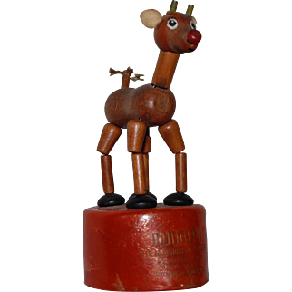 Rudolph the Red Nosed Reindeer Kohner Push Puppet