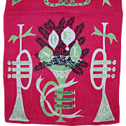 Retro Tammy Keefe 1950's Christmas Noel Linen Towel