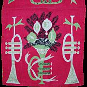 Retro Tammy Keefe 1950's Christmas Noel Linen Towel