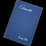 Emily Post Etiquette Blue Book 1950