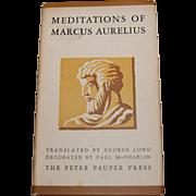 Meditations of Marcus Aurelius Book Roman Quotes and Musings