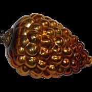 Golden Grape German Kugel Ornament