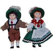 "5"" Bisque Dolls with German Costume"
