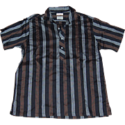 1960's Cotton and Silk Men's Short Sleeve Shirt