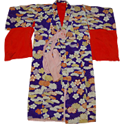 Vintage Padded Kimono Robe for Children