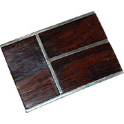 Mexican Silver and Rosewood Buckle