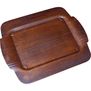 Mid Century Modern Camfield Pressed Mahogany Serving Tray