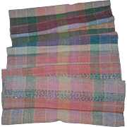 Vintage Rag Runner Rug in Pastels 9 ft