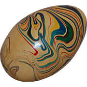 Vintage Wood Marbled Easter Egg