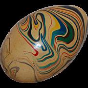 Vintage Wood Marbled Easter Egg