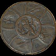 Mid Century St Christopher Bronze Pocket Token Medal -well loved!