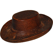 Miniature Carved Wood Cowboy Hat