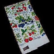 Kay Dee Vintage Berries Linen Kitchen Towel