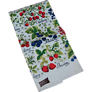Kay Dee Vintage Berries Linen Kitchen Towel