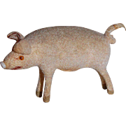 German Handwork Flocked Pig