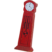 Red Strombecker Wooden Grandfather Clock