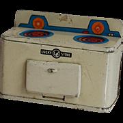 Vintage Dollhouse Tin Litho Lucky Stove