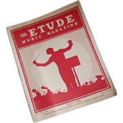 1925 Issue of Etude Music Magazine