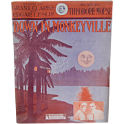 Down In Monkeyville 1913 Piano Sheet Music - Red Tag Sale Item