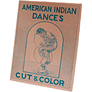 American Indian Dances Cut and Color Book 1952