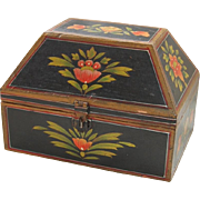 Folk Painted Wooden Box