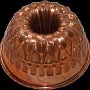 Vintage Bundt or Crown Shape Jelly Mold Portugal