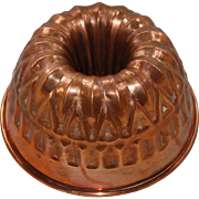 Vintage Bundt or Crown Shape Jelly Mold Portugal