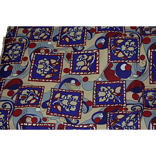 Crazy MOD Knit Fabric in Peter Max Style