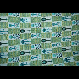 Vintage Cotton Fabric Retro and MOD