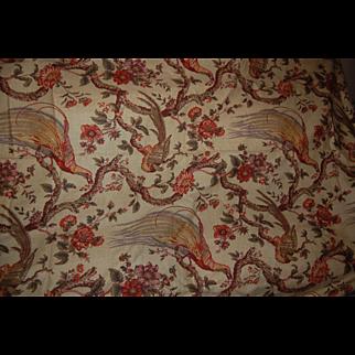 Vintage Waverly OLANA Decorator Fabric Bird of Paradise Repro 7 YDS