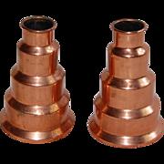 Vintage Revere Copper Atomic Candlesticks