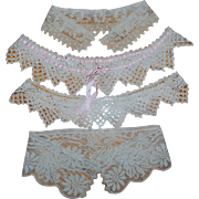 4 Antique Lace Collars