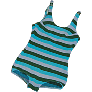 Vintage 1960's Striped Knit Bathing Suit