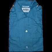 Silky Soft Men's Blue 1960's Shirt