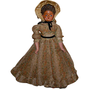 "17"" Antique Doll wax over composition"