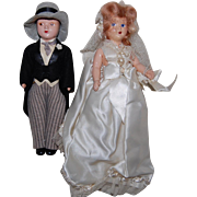 Mid 20th Century Bride and Groom Doll