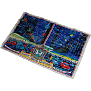 Glasgow Christmas Illuminations Ulster Linen Towel Mid 1900's