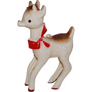Vintage Rudolph The Red Nosed Reindeer Plastic Ornament 1960's