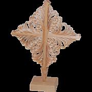 Finnish Carved Pine Curls Christmas Village Star Ornament