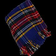 Vintage Plaid Wool Lap Throw Blanket