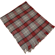 Edgar Of Scotland 100% Pure Wool Plaid Lap Throw Blanket Vintage