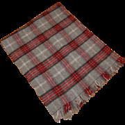 Edgar Of Scotland 100% Pure Wool Plaid Lap Throw Blanket Vintage
