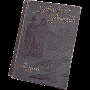 1897 Samantha at Saratoga or 'Flirtin' with Fashion' by Josiah Allen's Wife