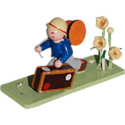 Steinbach Little Traveling Flower Boy Figurine