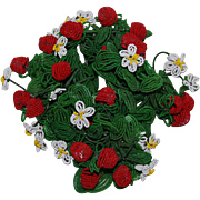 4 Clusters French Bead Flowers and Berries