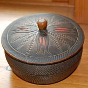Vintage Wood Japanese Trinket Box lathe turned