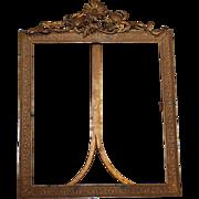 Floral Embellished Brass Table Frame