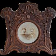 Black Forest Carved Table Photo Frame