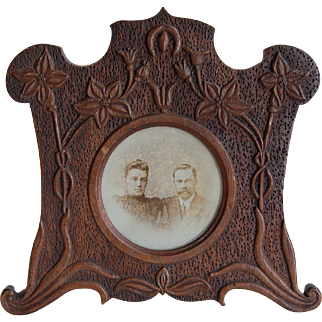 Black Forest Carved Table Photo Frame